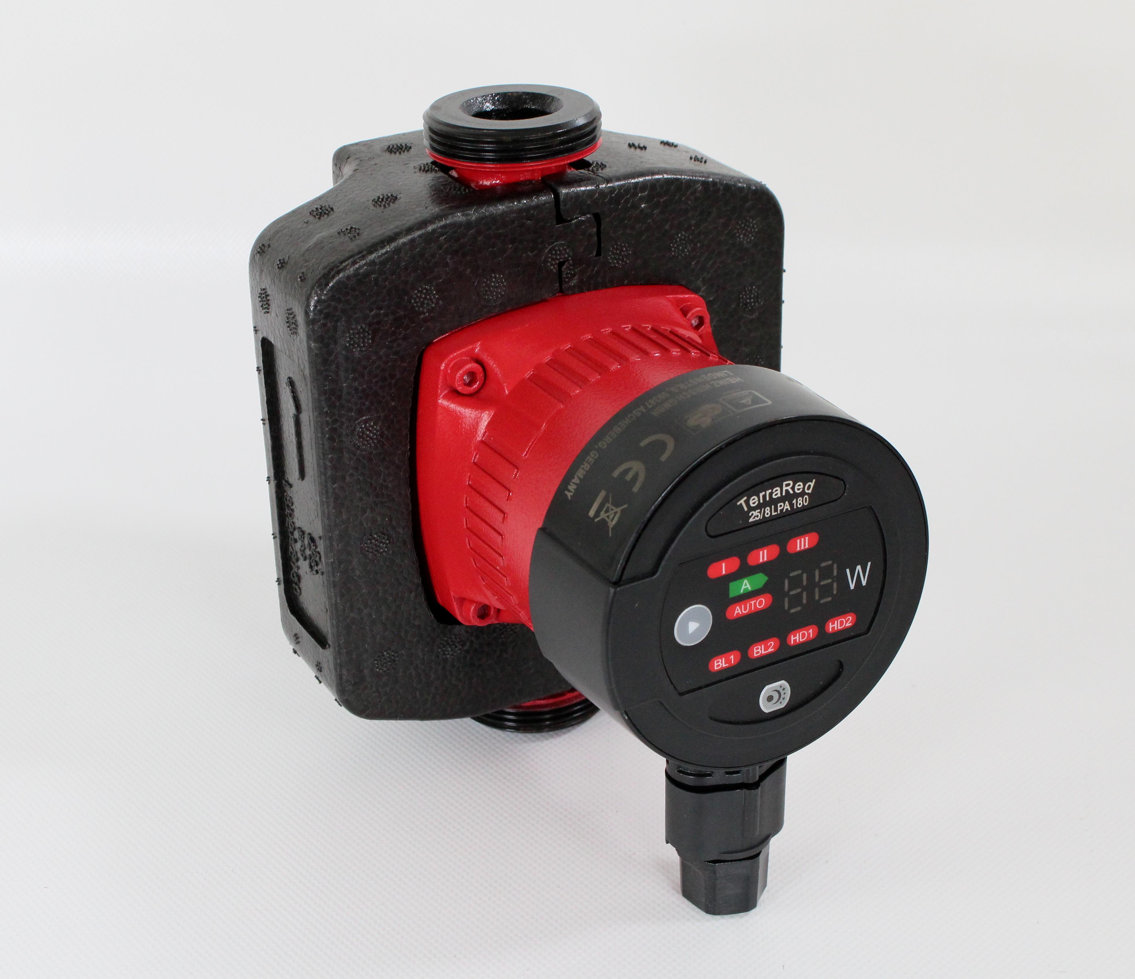 Hocheffizienzpumpe LPA 25//8 180mm Umw/älzpumpe Nassl/äufer Heizungspumpe